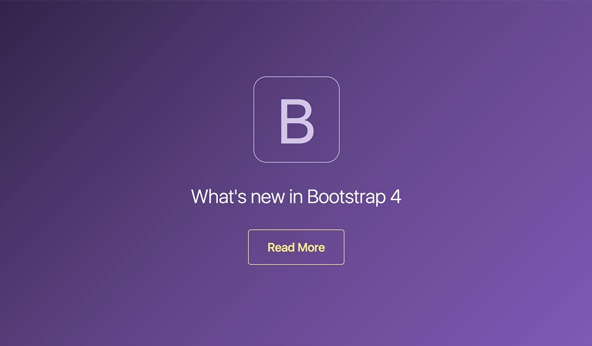 What's new in Bootstrap 4 ?