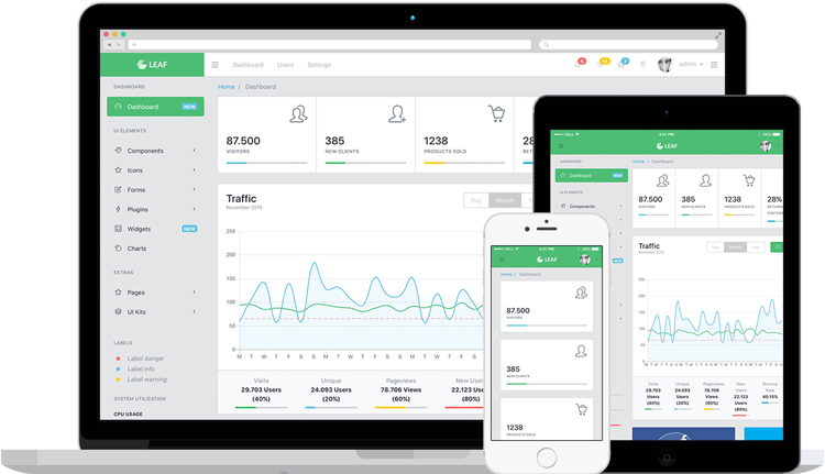 Leaf Bootstrap Admin Template
