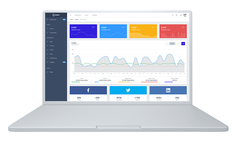 Bootstrap Admin Panel Template